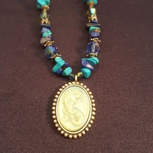 Kirks Folly, Loreli necklace with turquoise beads